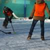 Первенство школы по хоккею в валенках
