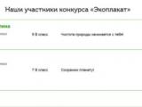 Результаты конкурса  «Экоплакат»