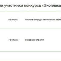 """Результаты конкурса  """"Экоплакат"""""""