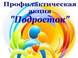 Профилактическая акция «Подросток»
