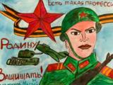 Картинный вернисаж ко дню Защитника Отечества устроили кадеты